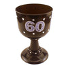 60th Birthday Black Diamond Goblet