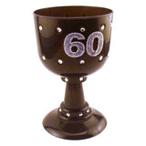 Sixtieth Birthday Diamond Black Goblet