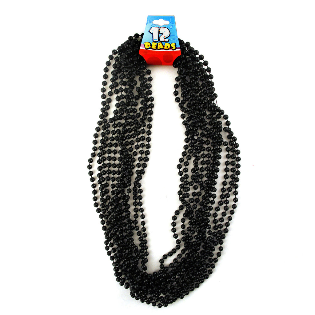 Black Mardi Gras Beads - 12