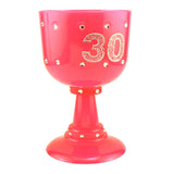 30th Birthday Pink Diamond Goblet