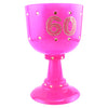60th Birthday Pink Diamond Goblet