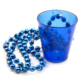 Blue Shot Glass Necklace