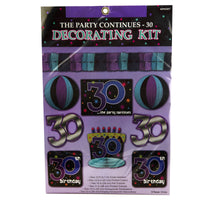 Thirtieth Birthday the Party Continues Kit