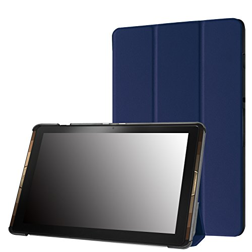 "Famavala Slim Vegan Leather Case Cover For 10.1"" Acer Iconia Tab 10 A3-A40 Tablet (Blue)"