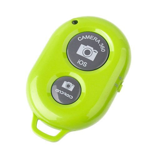 UFCIT Bluetooth Wireless Remote Control Camera Shutter Release Self Timer for IOS Android Smartphones (Green Remote)