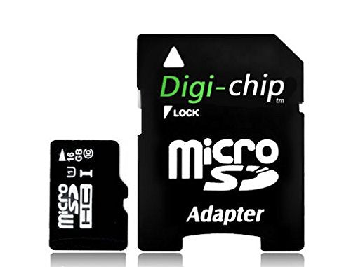 Digi-Chip HIGH SPEED 16GB UHS-1 CLASS 10 Micro-SD Memory Card for Motorola Luge, Moto G and Moto E Cell Phones