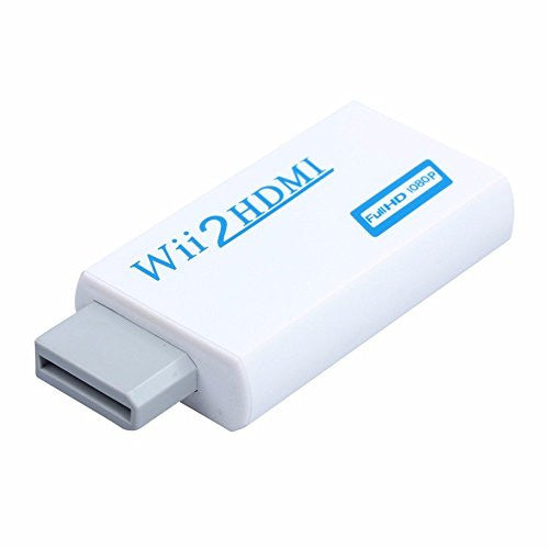 Ciecoo White Full HD 480P/720P/1080P Output Upscaling 3.5mm Audio Video Output For Wii to HDMI Wii2HDMI Adapter Converter Supports All Wii Display Modes