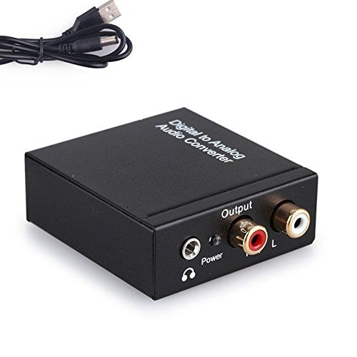 Northbear Digital Coaxial Toslink Optical to Analog L/R RCA Audio Converter Adapter 3.5mm Black