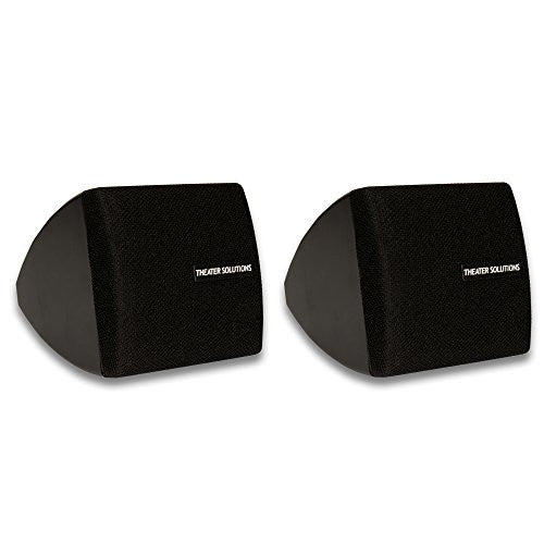 Theater Solutions by Goldwood Surround Mountable Satellite Home Speaker, Set of 2, Black (TS30B)
