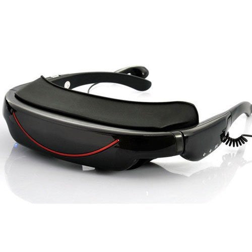Sourcingbay Portable Video Glasses Eyewear with 72Inch Display 16:9 Hd Widescreen Multimedia Player 3D Stereo Video Glasses Virtual Theatre 4gb HDMI Supports AV IN Connection For Game Consoles, Smart Phones, DVD, TV, And PC