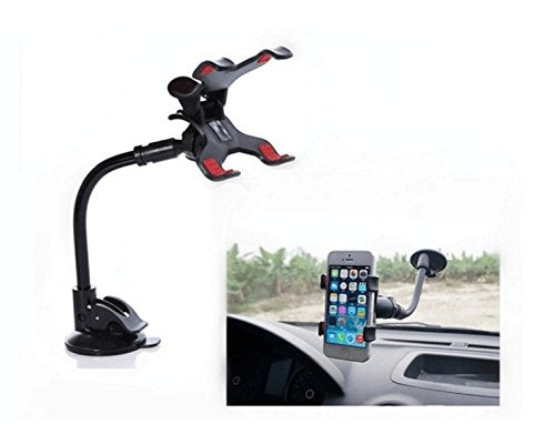 Drhob Universal Car Mobile Phone Holder Stand Rotating 360 Degree Long Arm Cellphone Bracket Cell Phone Mount For GPS Mp4