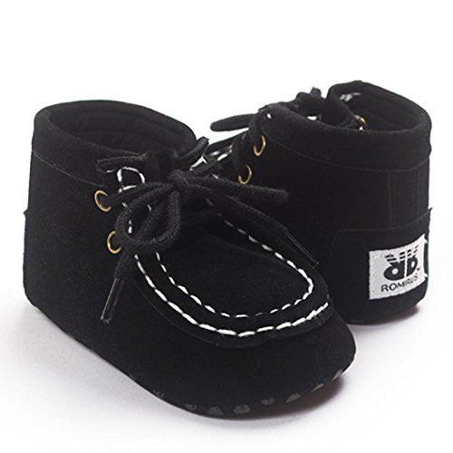 Baby High Help Bandage Shoes,Ecosin® Baby Crib Toddler Sneakers Casual Non-slip Shoes (0-6month, Black)