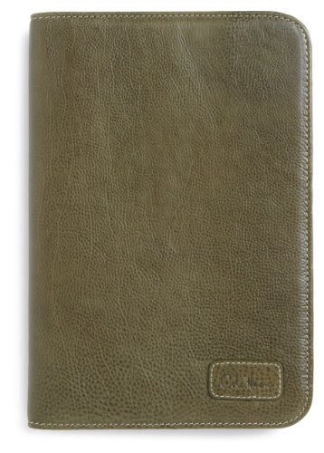 Cole Haan Hand-Stained Pebble Grain Leather Kindle Fire Cover, Dark Green (will not fit HD or HDX models)