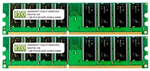 2GB (2 X 1GB) DDR 333MHz PC2700 184-pin Memory RAM DIMM for Desktop PC