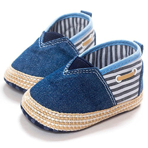 Ecosin® Baby frenulum Sneaker Anti-slip Soft Sole Toddler Prewalker (6-12M, Blue 5)