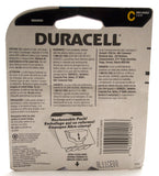 C-Cell Batteries - 2 Pack - Back of Package