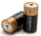 Two Duracell C Batteries