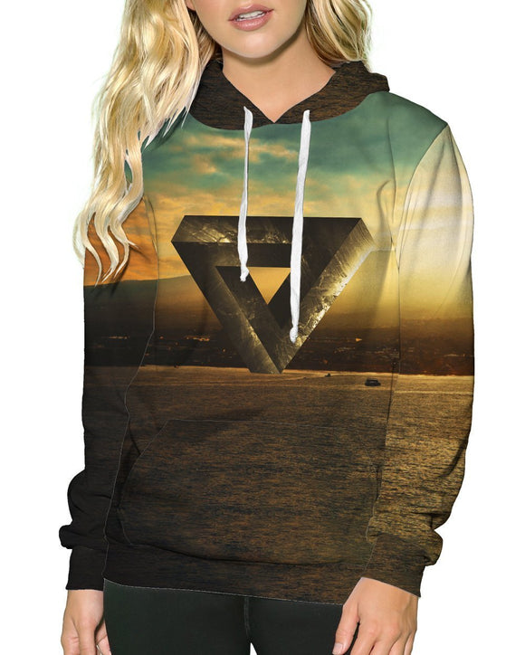 Altered Reality Pullover Hoodie-Female-Front