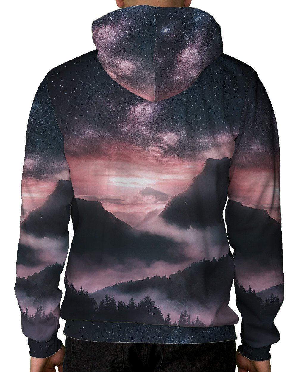 At Dusk Pullover Hoodie-Male-Back