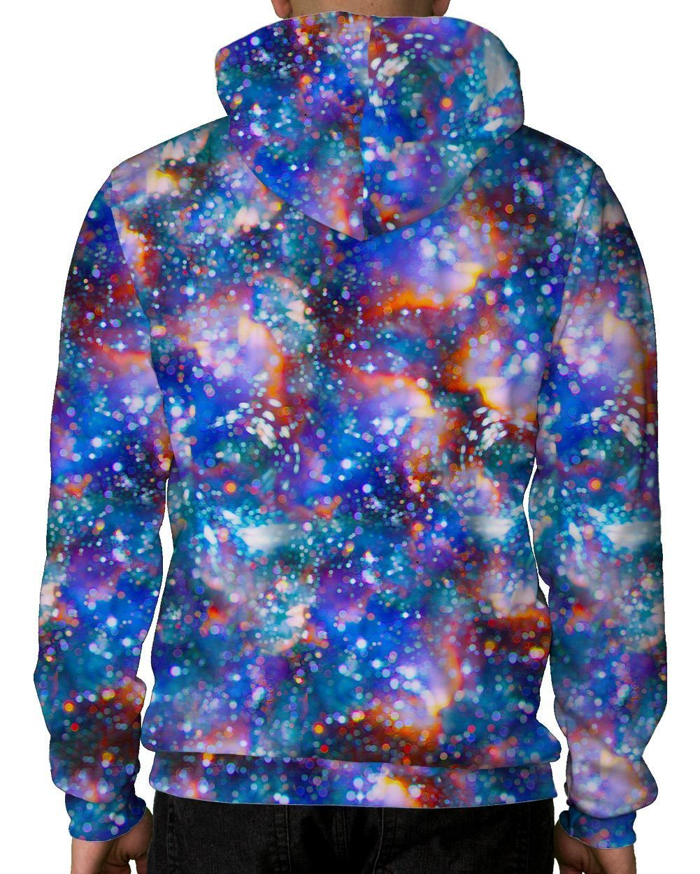 Atomic Haze Pullover Hoodie-Male-Back