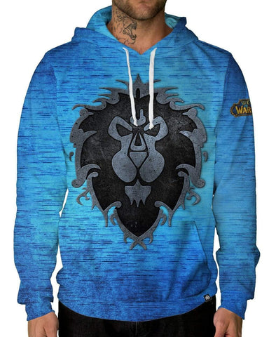 Azeroth Alliance Pullover Hoodie-Male-Front