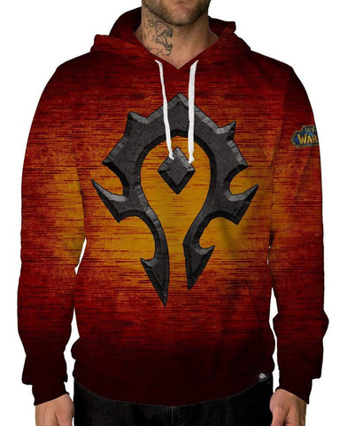 Azeroth Horde Pullover Hoodie-Male-Front