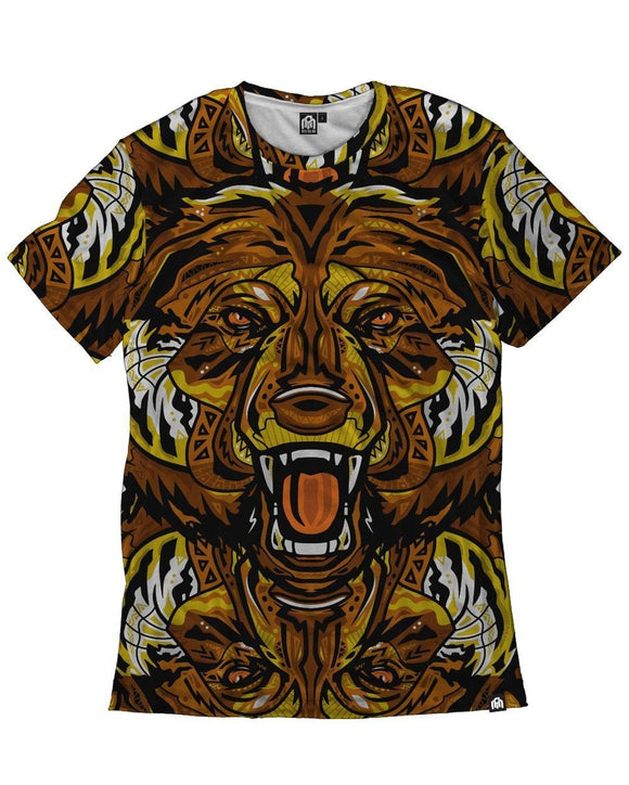Aztec Grizzly Men's All Over Print Tee