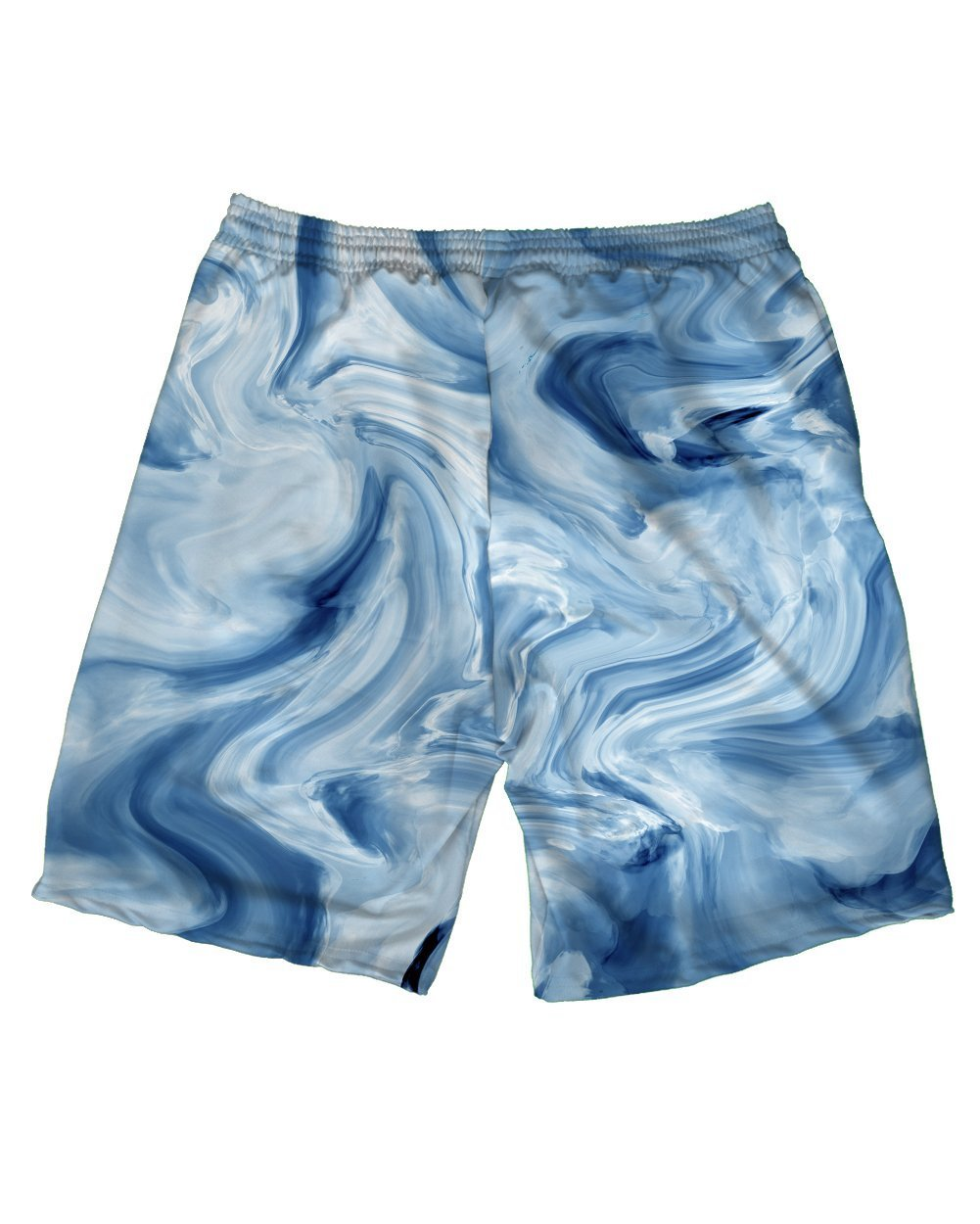 Blue Marble Men's Athletic Shorts-Back