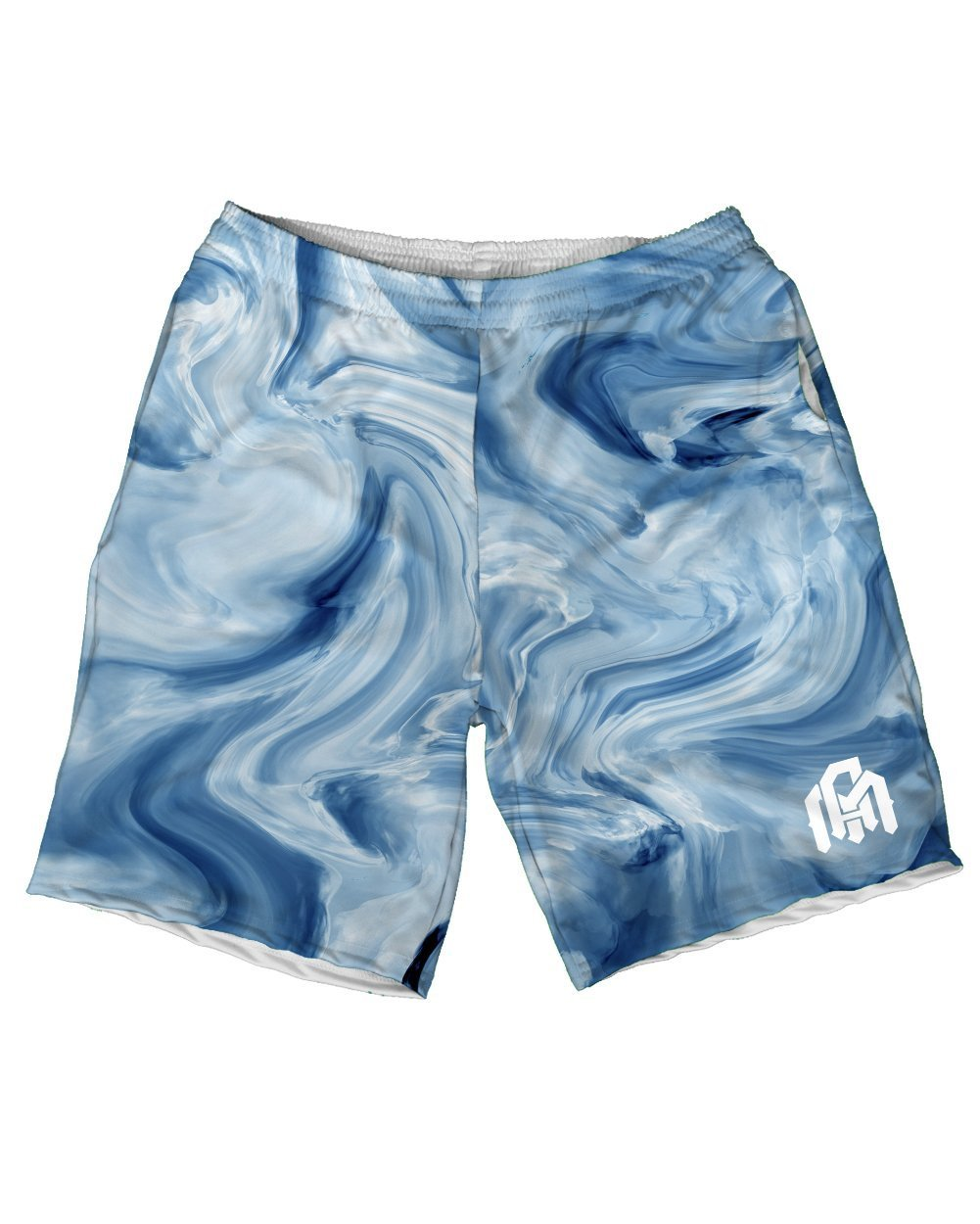 Blue Marble Men's Athletic Shorts-Front