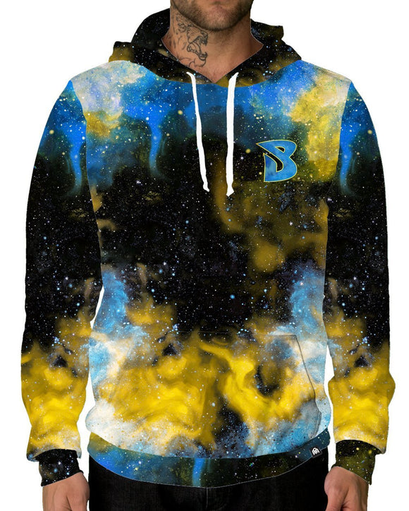 Brobarian Galaxy Pullover Hoodie-Male-Front