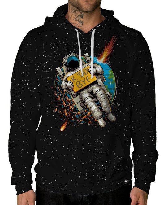 Bye Pullover Hoodie-Male-Front