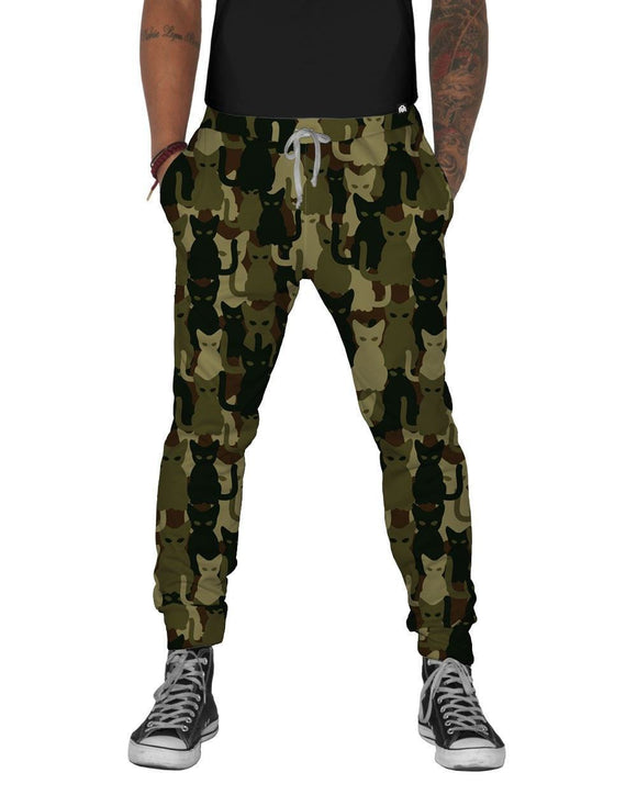 Camo Cats Joggers-front