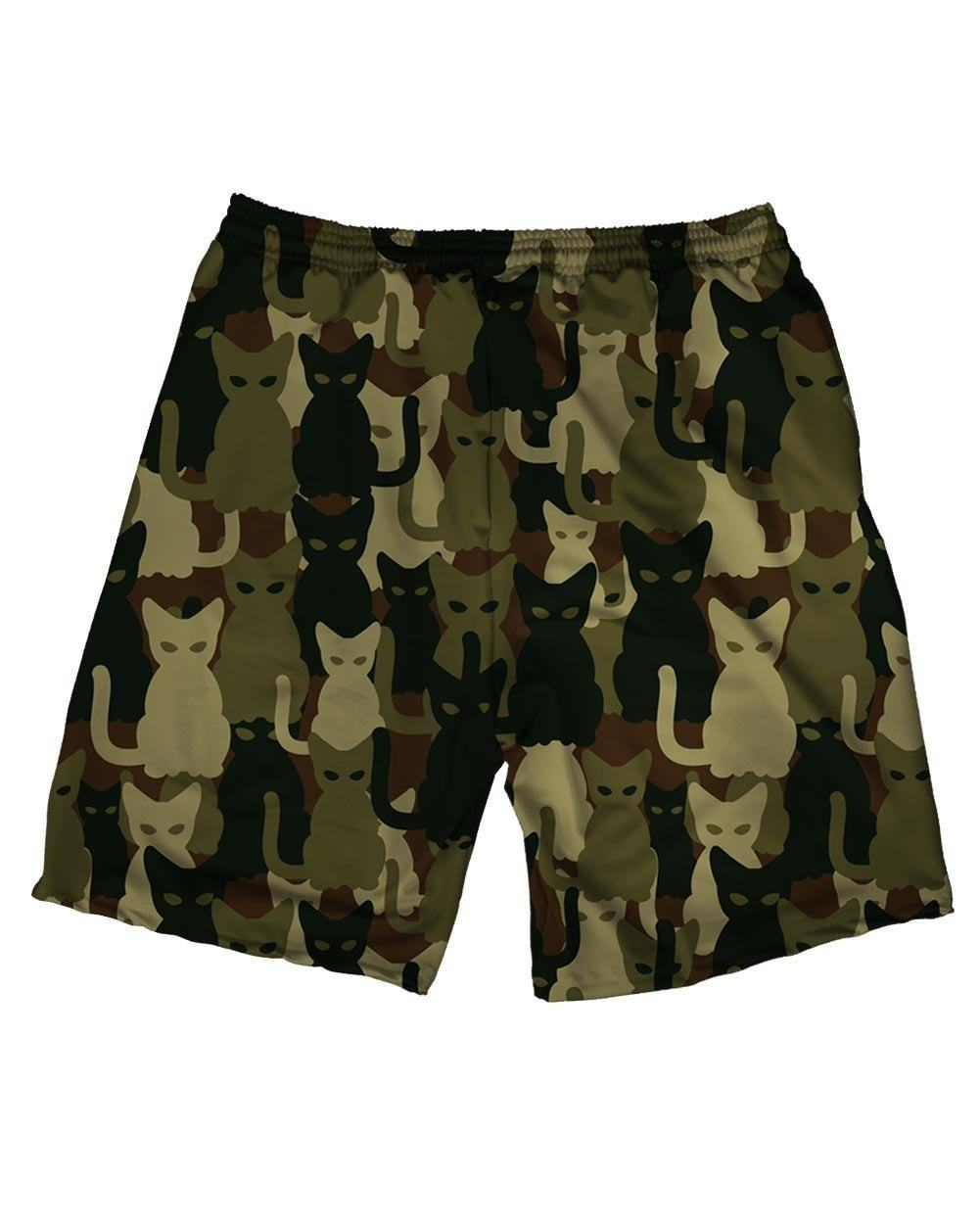 Camo Cats Weekend Shorts-back
