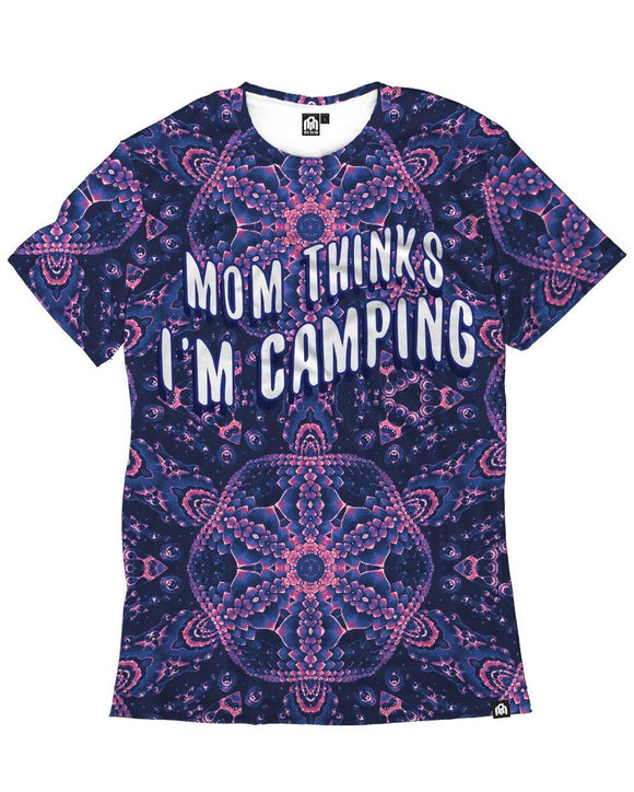 Mom I'm Camping Men's Tee-Front