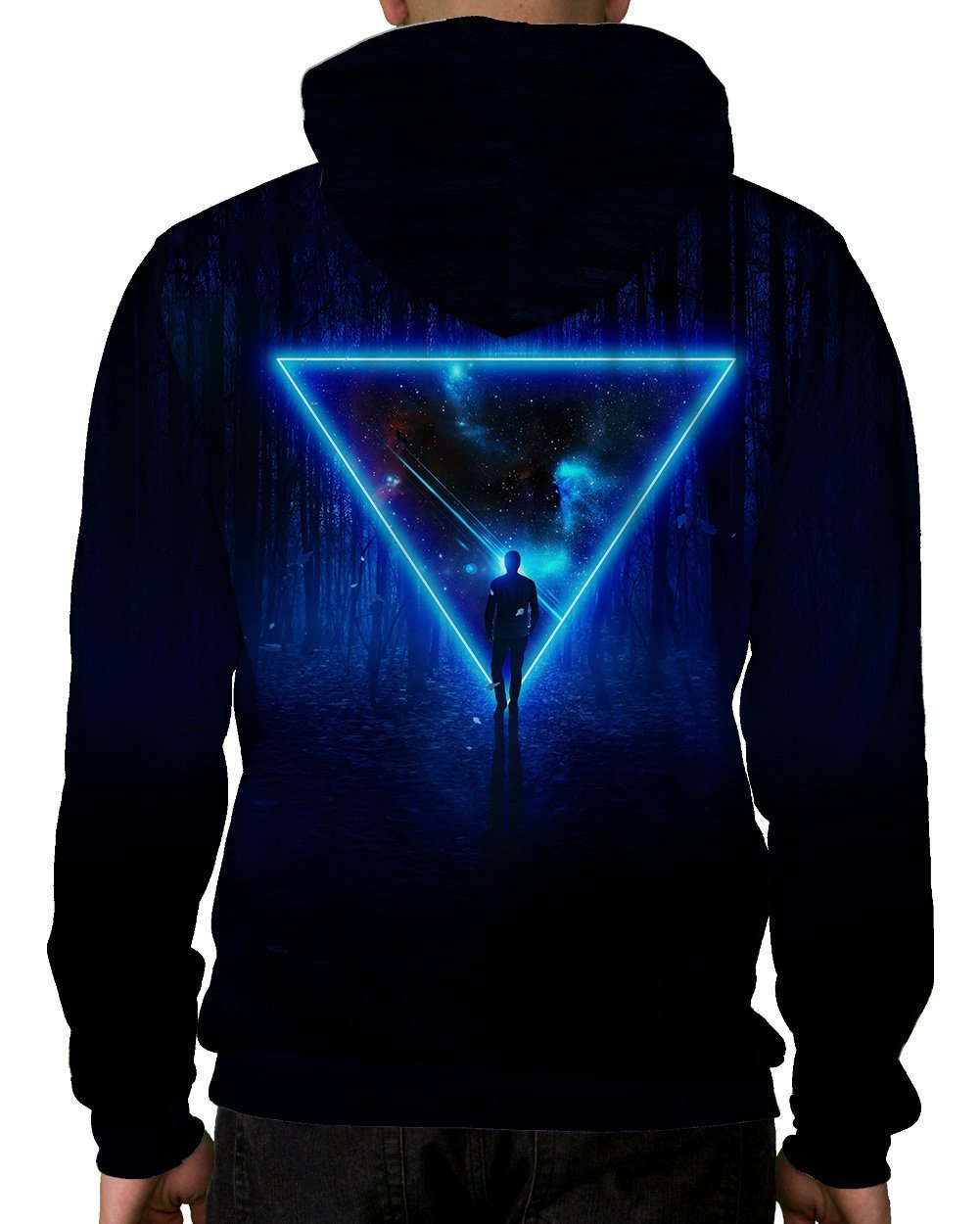 Celestial Paradox Pullover Hoodie-Male-Back