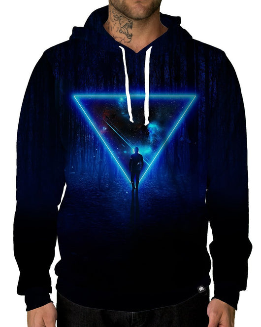 Celestial Paradox Pullover Hoodie-Male-Front