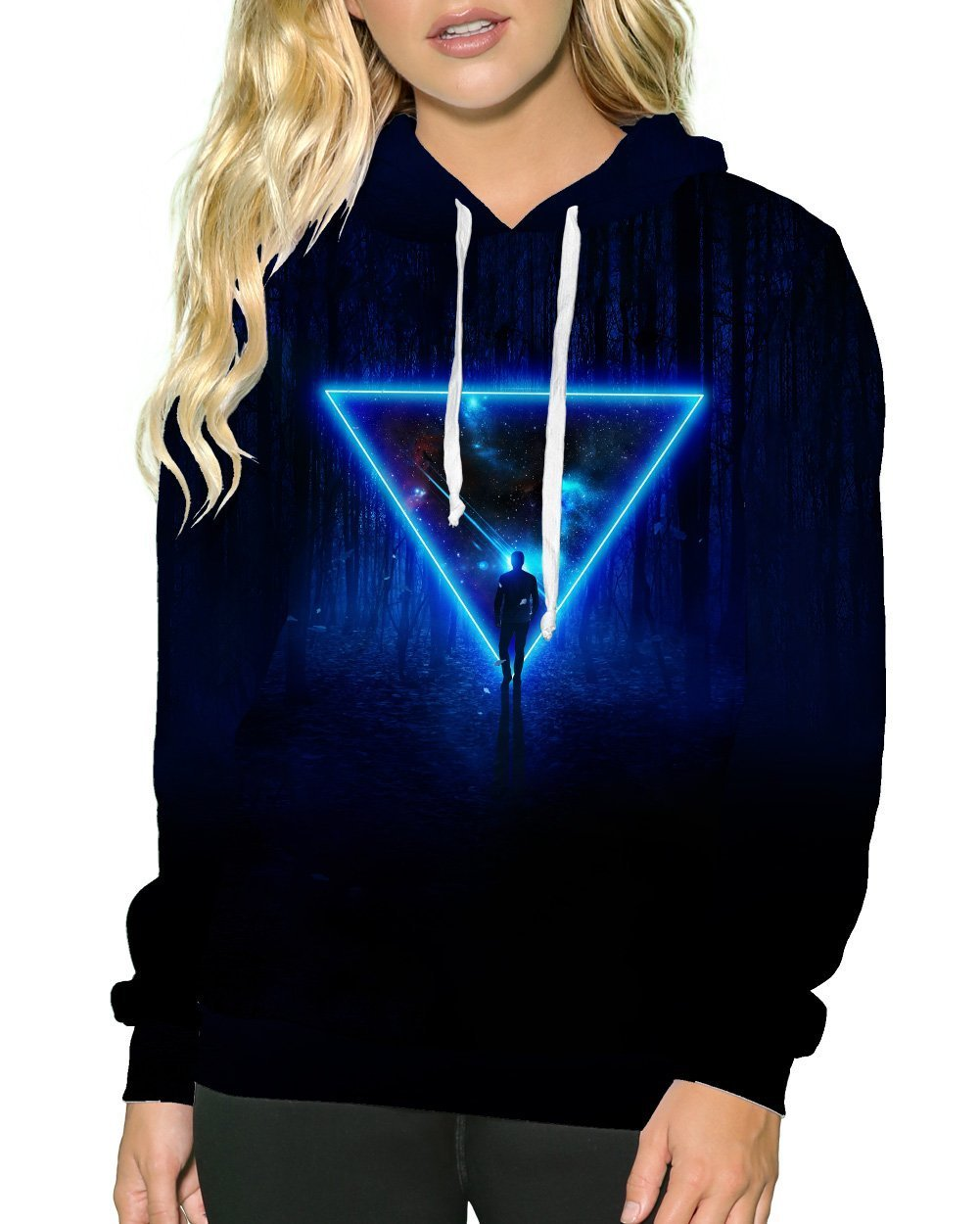 Celestial Paradox Pullover Hoodie-Female-Front