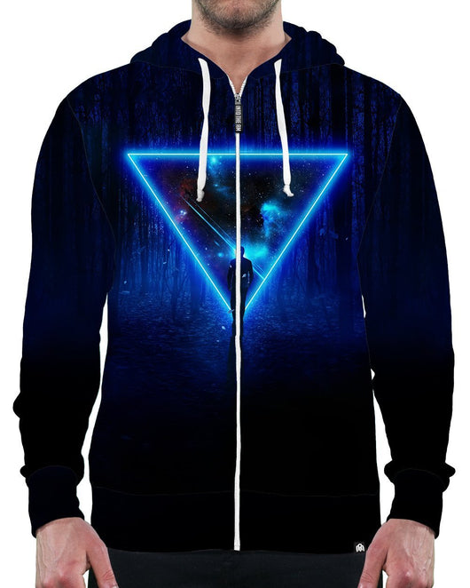 Celestial Paradox Zip-Up Hoodie-Male-Front