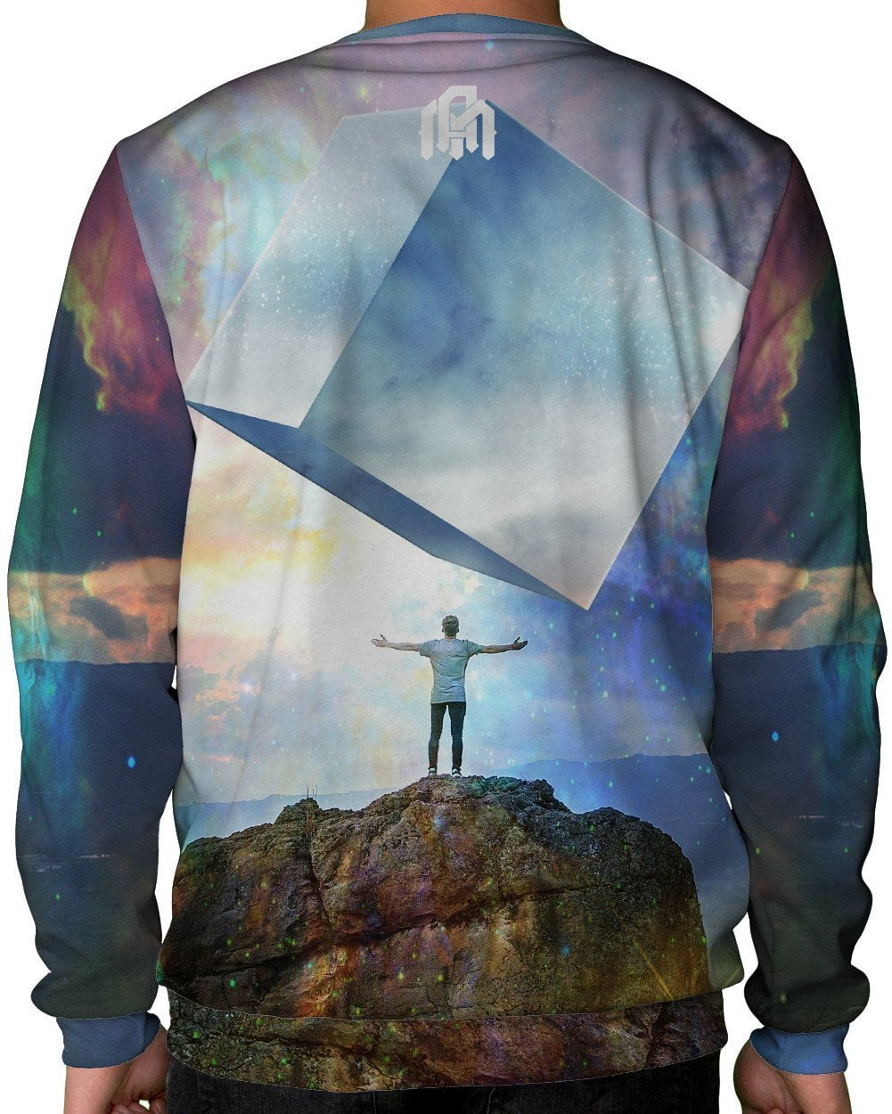Chromatic Skies Crewneck Sweatshirt-Male-Back