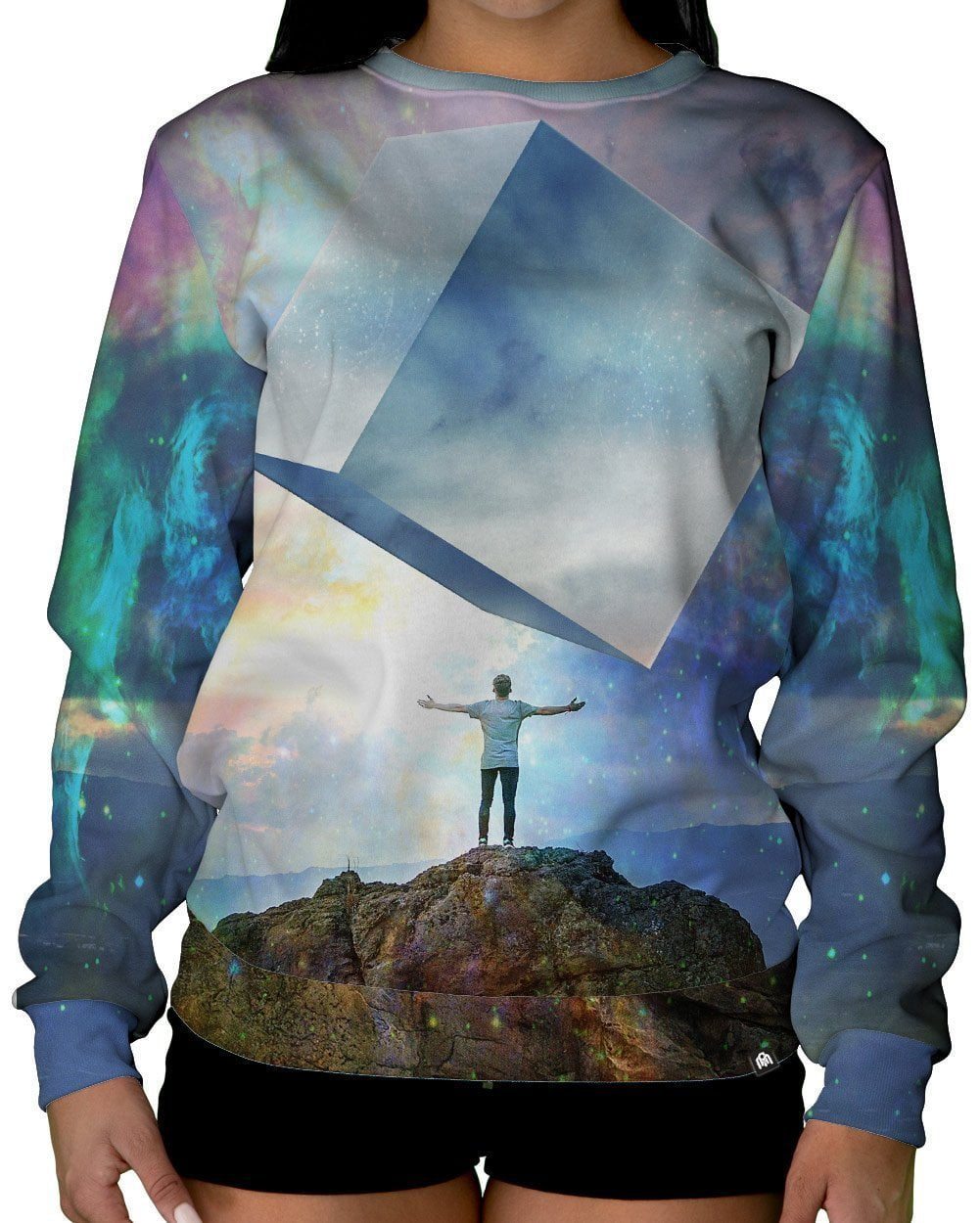 Chromatic Skies Crewneck Sweatshirt-Female-Front