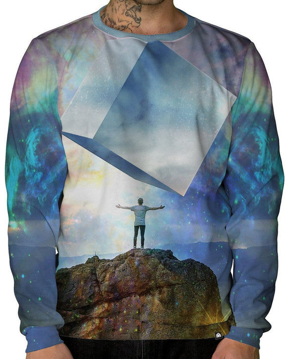 Chromatic Skies Crewneck Sweatshirt-Male-Front