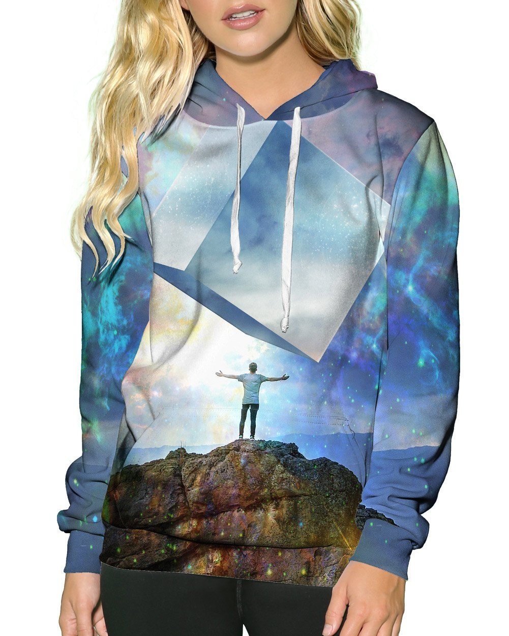 Chromatic Skies Pullover Hoodie-Female-Front