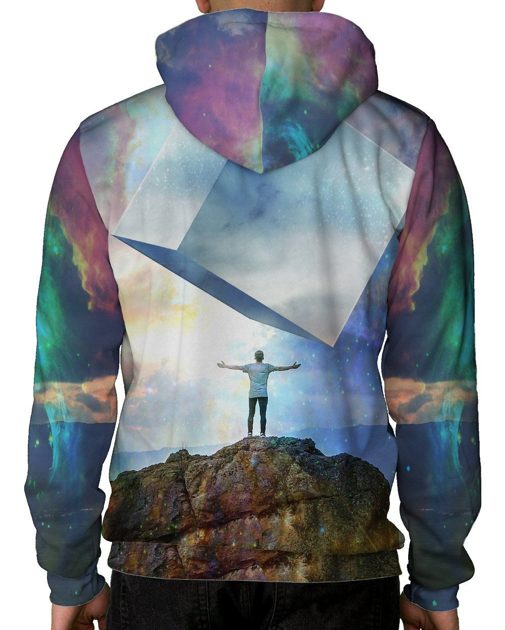 Chromatic Skies Pullover Hoodie-Male-Back