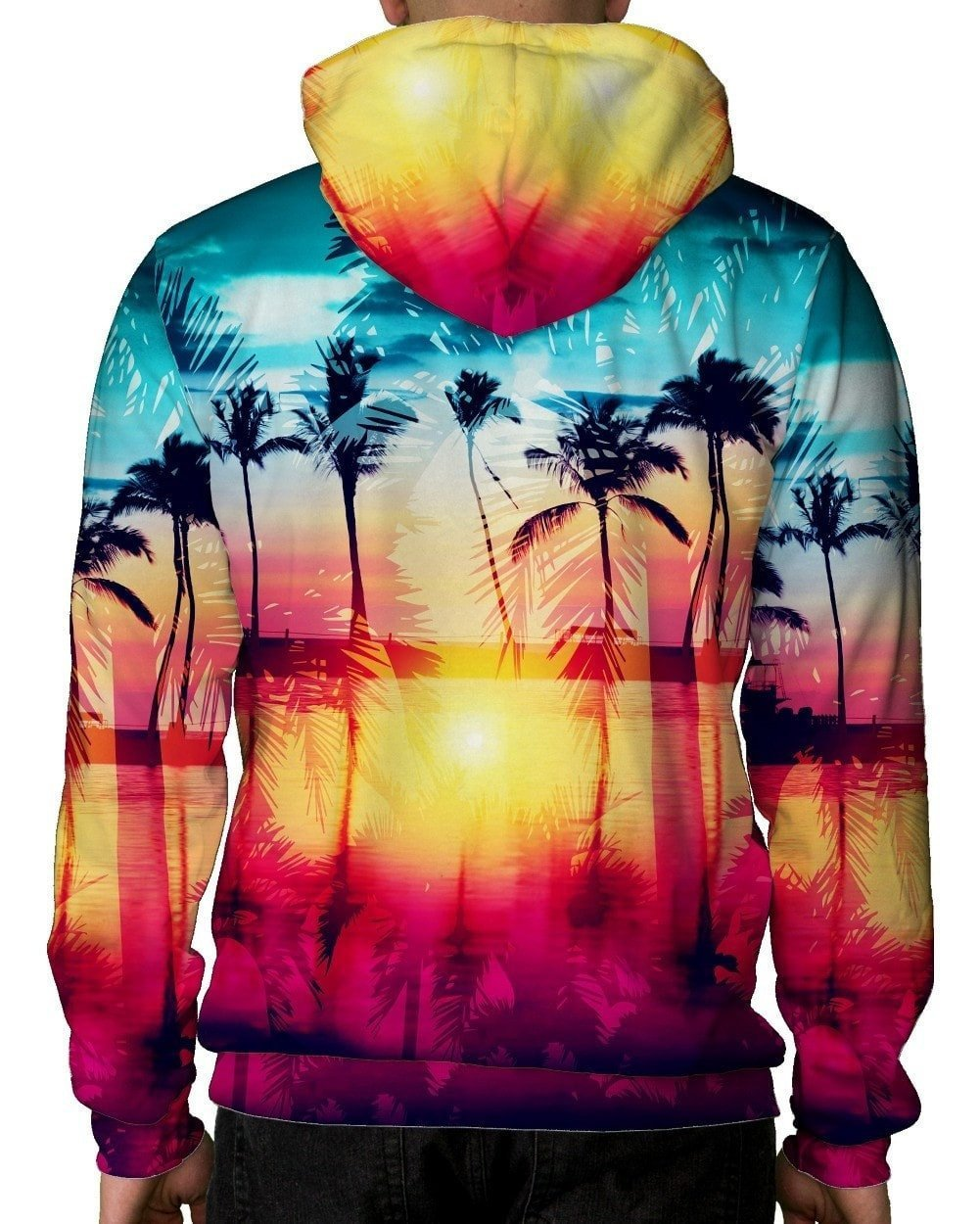 Coastal Dreams Unisex Hoodie-men's back