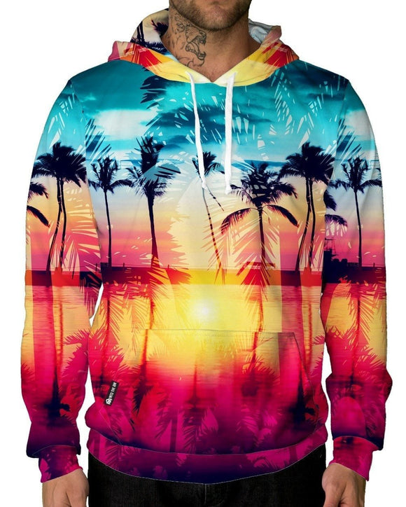 Coastal Dreams Pullover Hoodie-Male-Front