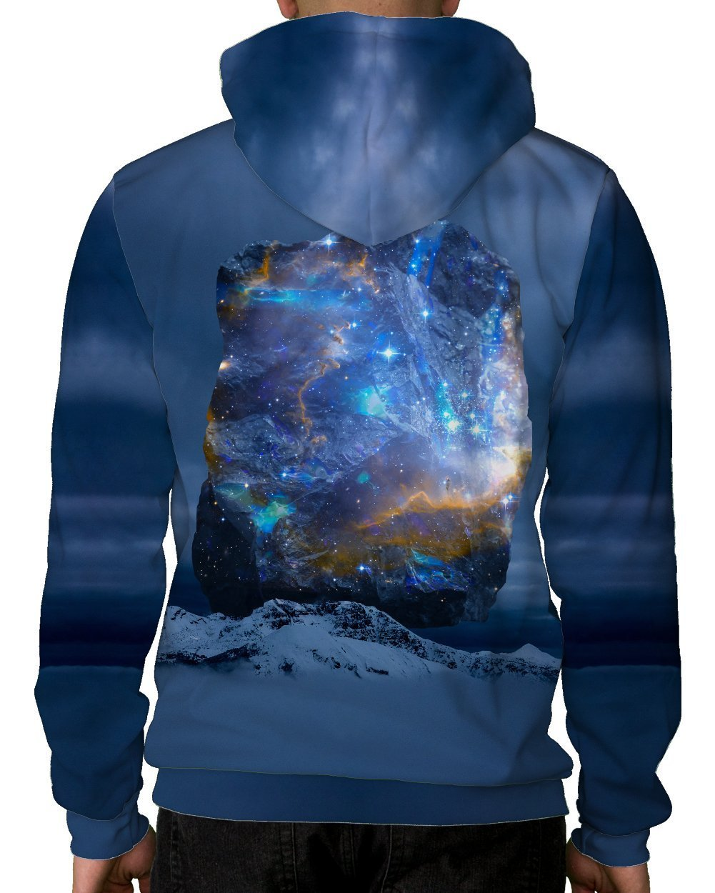 Cosmic Quartz Pullover Hoodie-Male-Back