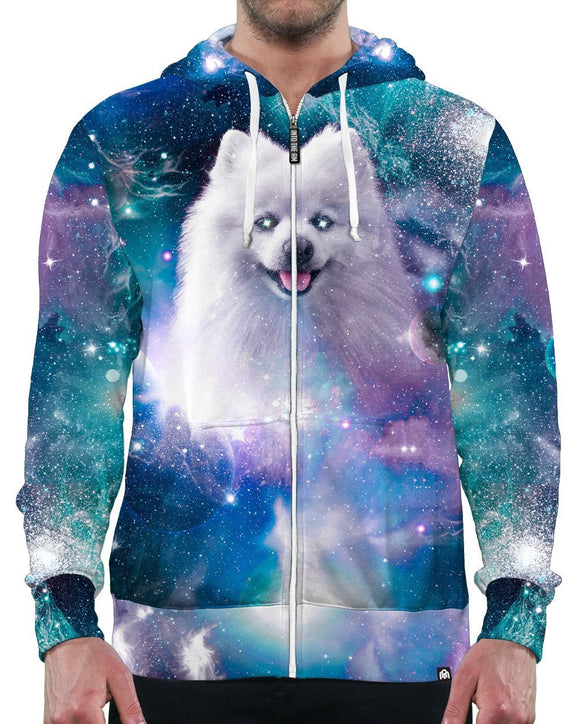 Cosmic Shiro Zip-Up Hoodie-Male-Front