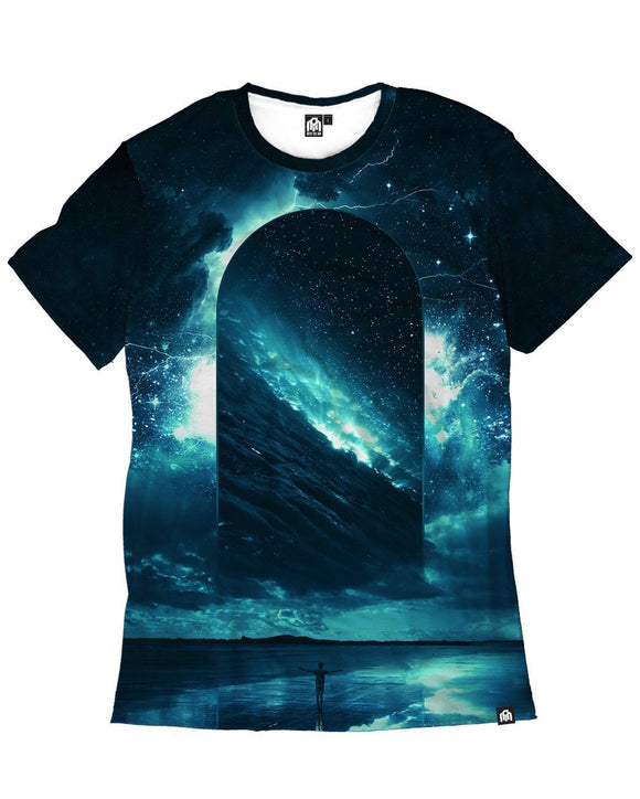 Cosmic Storm Men's Tees-Front