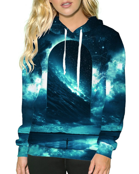 Cosmic Storm Pullover Hoodie-Female-Front