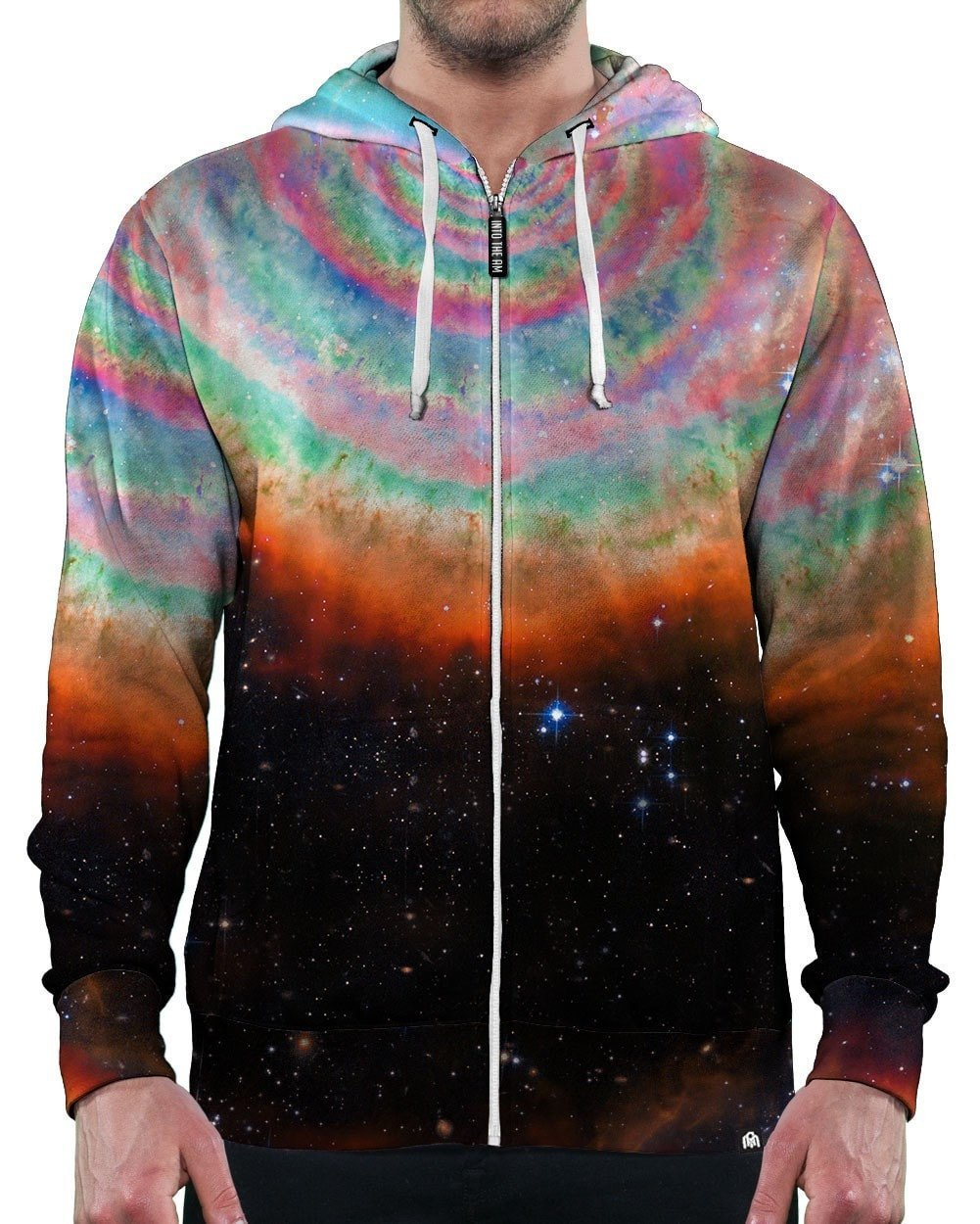 Cosmic Vortex Zip-Up Hoodie